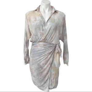 Young Fabulous & Broke Raine Tie Dye Wrap Dress XS